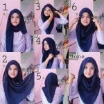 Stylish Loose Square Hijab Tutorial 2016