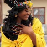 Modern Zulu woman in traditional outfits 2016