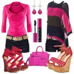 pink outfit ideas for women 2016