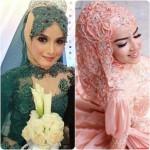 new bridal hijab dresses designs 2016 2017