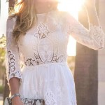 trendy white lace dresses 2016 for summer