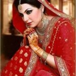 latest red dulhan wear for 2016 2017