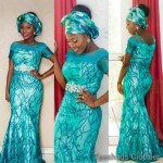 latest ankara lace styles 2016‬‏