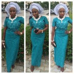 simple french lace ankara  2016 styles