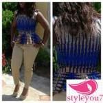 ankara blouses peplum style 2016