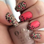 easy leopard nail art designs 2016