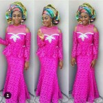 lace style in nigeria 2016 with ankara