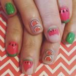 watermelon nail art for  2016
