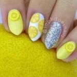 lemon nail art for summer 2016