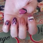 style vintage nail art designs 2017