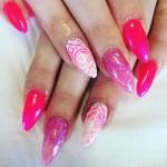 pink summer nail art Ideas 2017