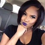 stylish black bob hair for 2017