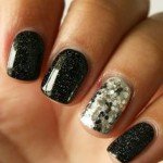 black nail art for womens style 2017