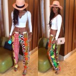 patchwork african print pants  2017