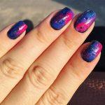 top galaxy nail art designs 2017