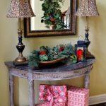 cozy christmas entryway decor ideas 2017