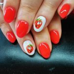cute red nail art designs 2017