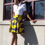 print ankara flared skirts new 2017