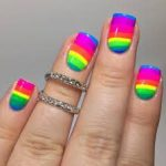 8 cute rainbow nail art ideas 2017